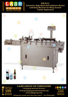 Automatic High Speed Self Adhesive Sticker Labelling Machine for Wrap Around Labels Application