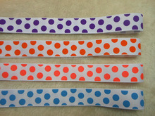 New Style series ink screen printed dots design grosgrain ribbon