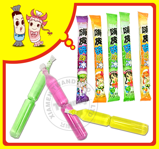ice pop drink jelly stick