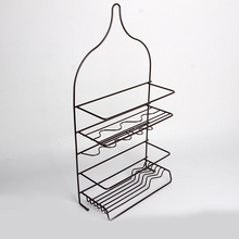 Stainless Steel 4 Tier Hanging Shower Caddy Rack Storage Basket Bathroom Organizer