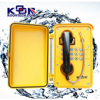 Aluminium alloy hard line phone with answering machine