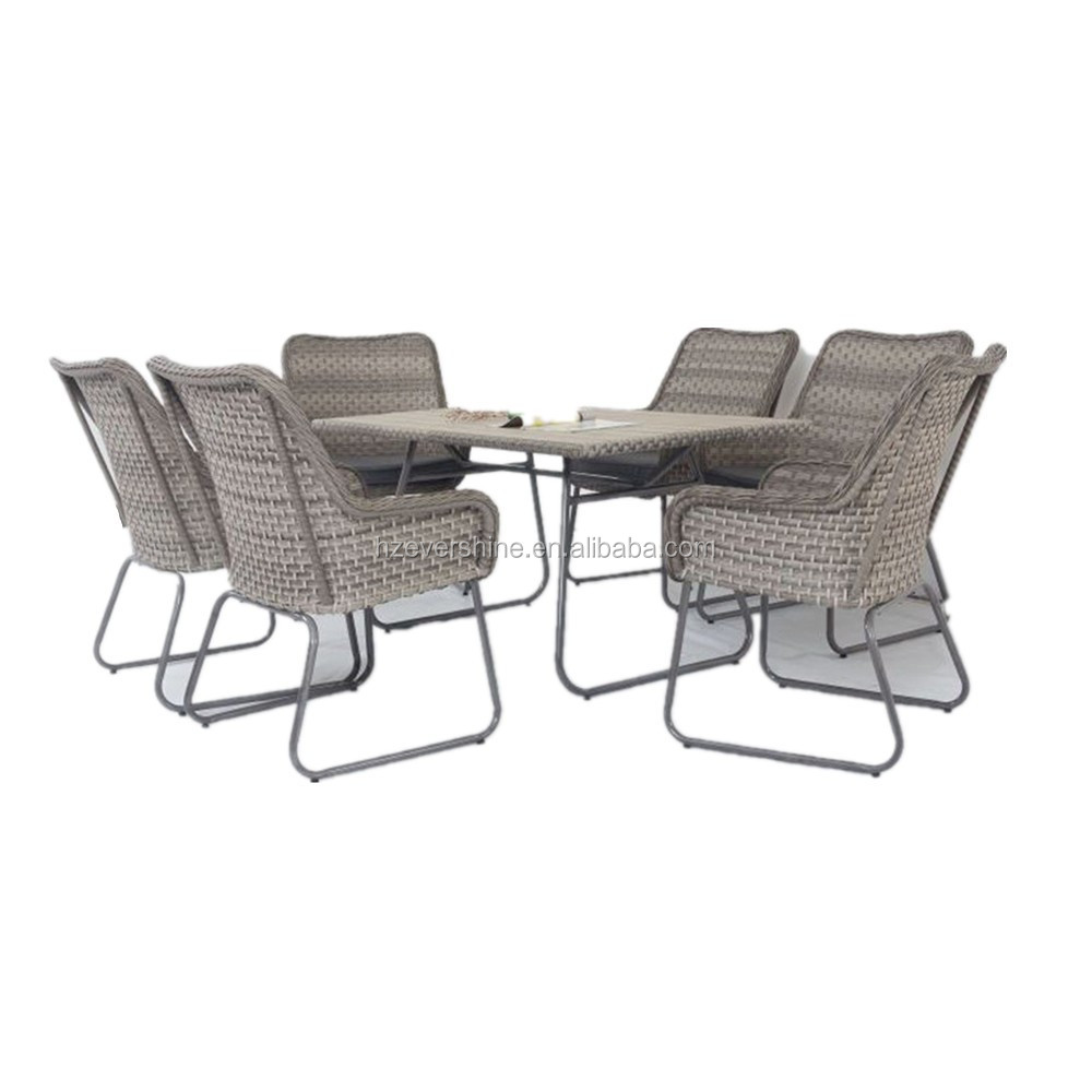 K.D Structure New outdoor/Garden Furniture Rattan Table and Chair