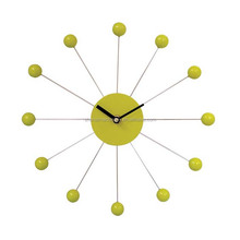 sunshine shape ladies rolling ball wall clock for hanging crafts
