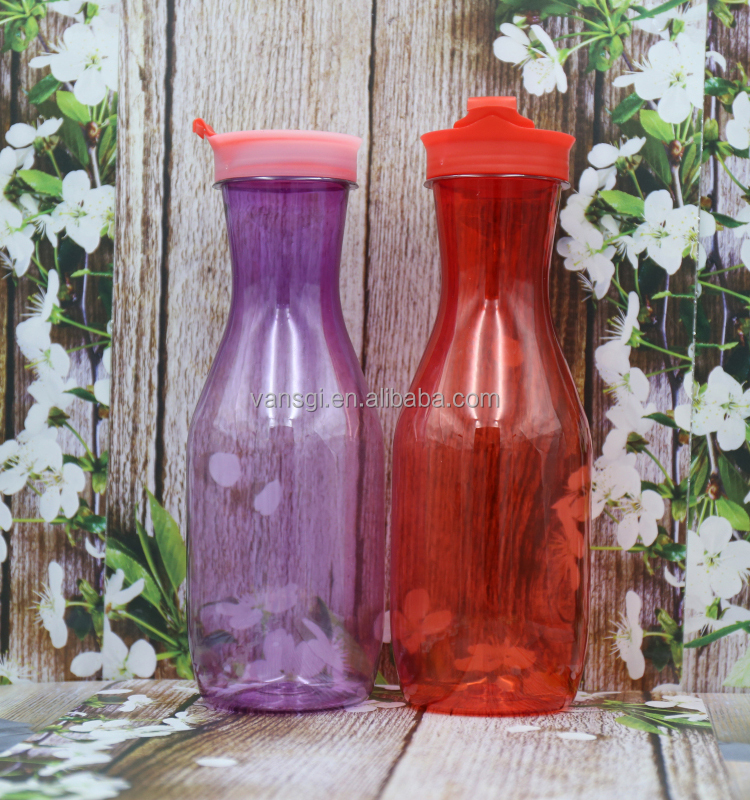 1000ml PET cheap plastic sport bottle cooking oil bottle