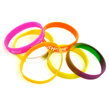 Silicone rubber band adjustable clasps balance survival glow in dark slap bracelet