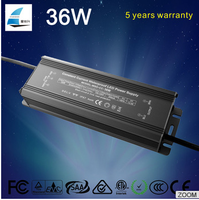5 years warranty IP67 waterproof led driver 36w constant current 700ma 800ma 900ma led switching power supply
