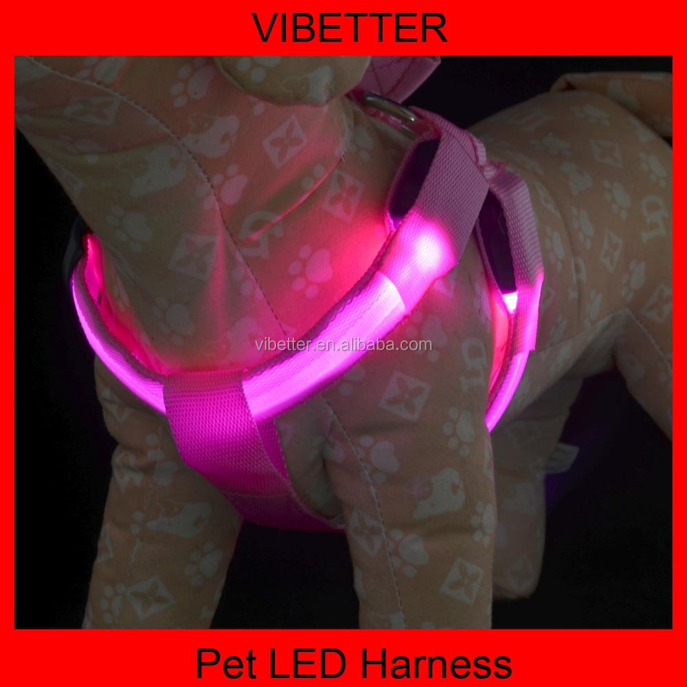 Wholesale Nylon Safety sex led dog harness illuminated dog harness sex women with dog pet harness