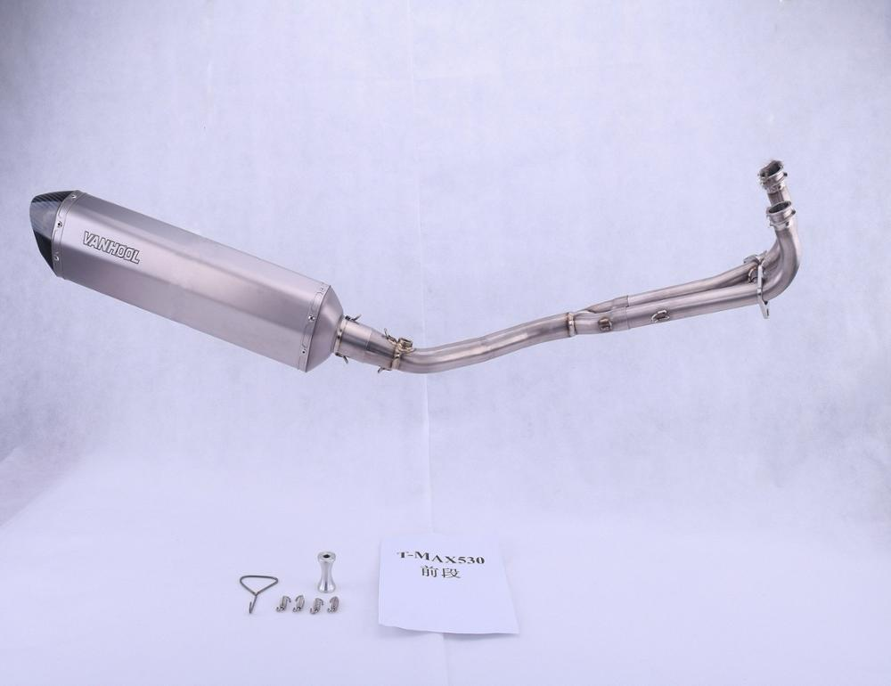 High quality AK Exhaust Pipe Motorcycle for T-max 530, Professional Universal Exhaust Muffler