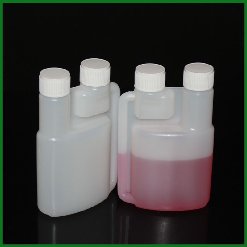100ml Bottles With Twin Neck Measuring Plastic Dosing