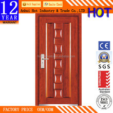 Reasonable Price Wooden Door for Bathroom /Bedroom Wooden Decorative Pattern Interior Door Customize Color