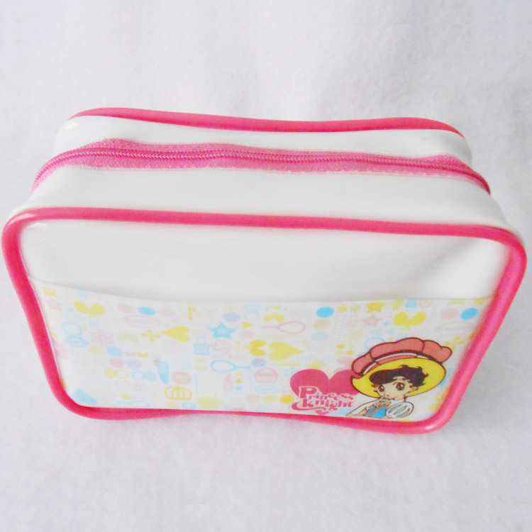 Promotional clear PVC cosmetic bag case