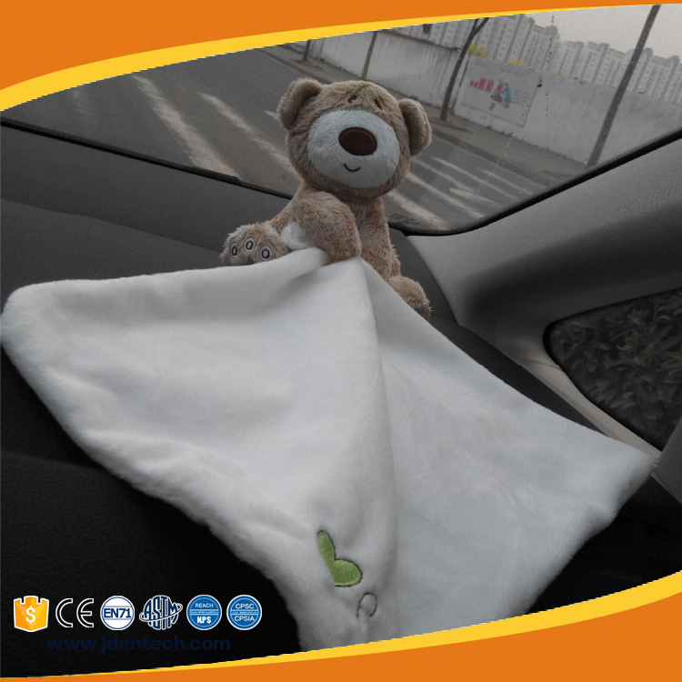 Super soft car decoration scarf doll brown bear baby small stuffed toys