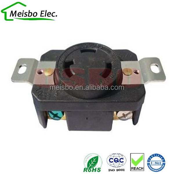 NEMA L5-30R female receptacle 30A industrial plug and socket