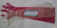Disposable LDPE 90cm Long Gloves For Veterinary