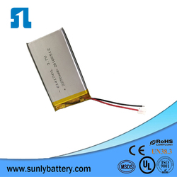 Lipo battery 3.7V 2250mAh high power rechargeable li ion battery for GPS