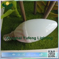 best selling candle shape type e14/e27 led candle light bulb made in china