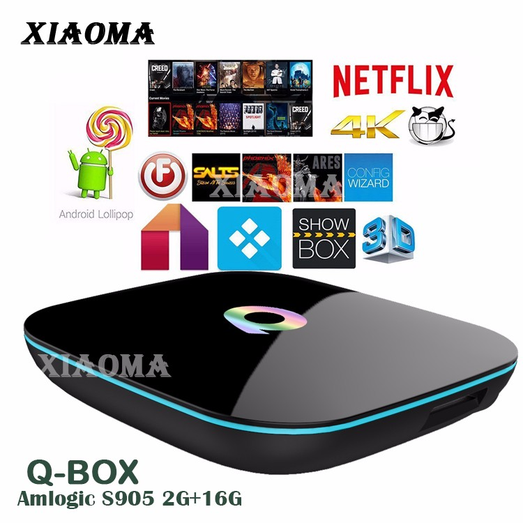 Q BOX Amlogic S905 2G 16G Android 5.1 TV BOX Full HD media player 1080p smart tv android box