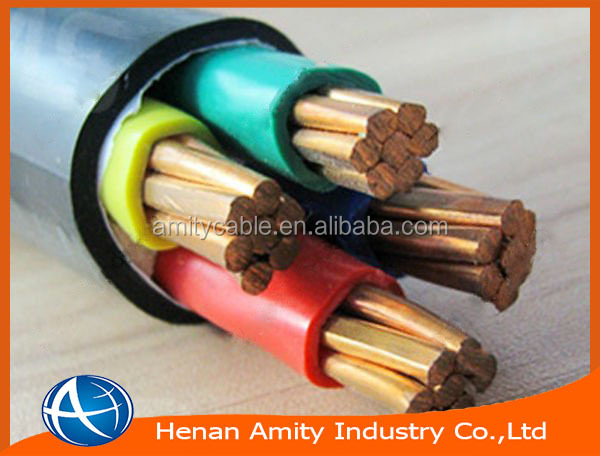 4 core 16mm2 DIN VDE 0271 NYY type PVC insulated power cable