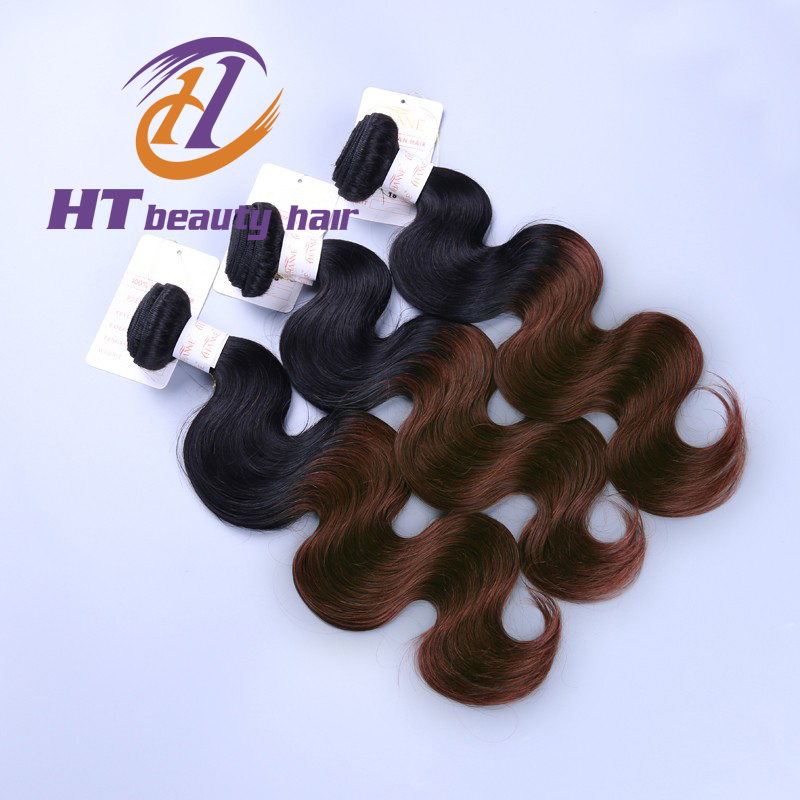 Cheap Ombre peruvian Hair Extesnion 100% peruvian 3 Tone Ombre Human Hair Weaving Body Wave 3 Pcs 4 Pcs Ombre Hair