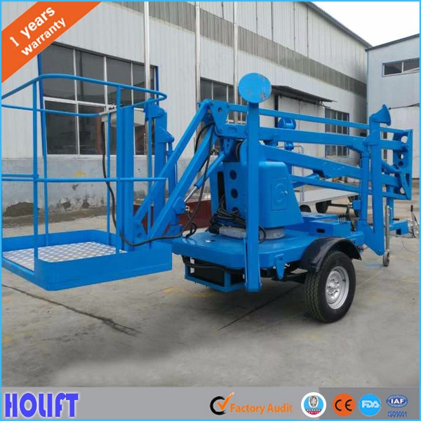 Holift brand Material handling equipment towable boom lift