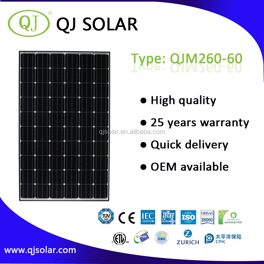 260w monocrystalline poly 260w photovoltaic solar panel cheap solar panel in china