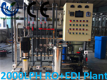 2000LPH EDI ultrapure water system for chemical manufacturing and food & beverage industry