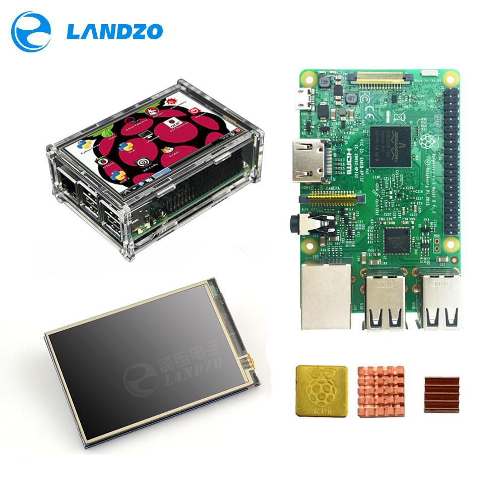 Raspberry Pi 3 Model B Board 35 Tft Pi3 Lcd Touch Screen Display Acrylic Case Heat Sinks For Kit Buy