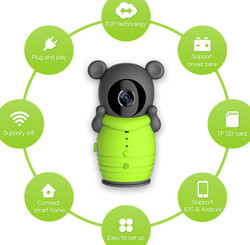 Wholesale price clever dog built in power bank wifi ip camera Real-time video support Android and ios BS-W20B