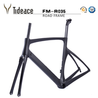 2017 Super Light Carbon 700C Road Bike Carbon Fiber Aero Racing Bicycle Frame+Fork+Seat Post+Clamp UD Matt black frames OEM MADE