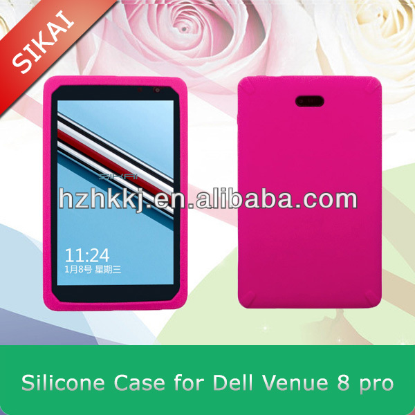 Sikai New Silicone Rubber Case Protective Cover Shell For 8 inch Dell Venue 8 Pro tablet pc windows system