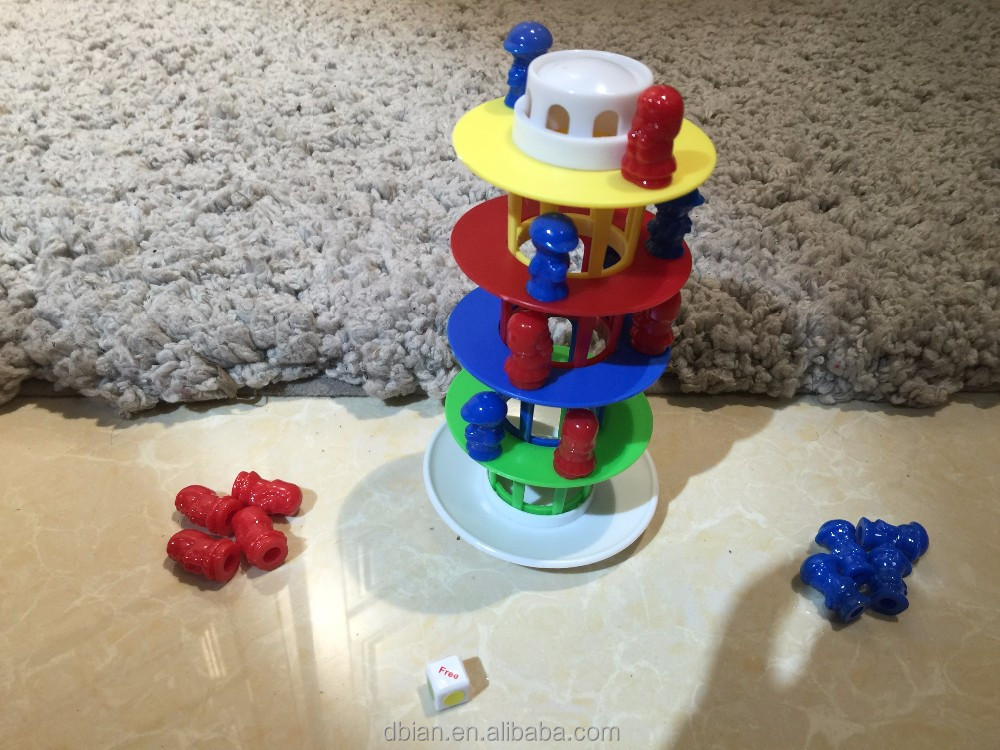 2017 crazy toys for kids Brain games Shaky tower toy bricks construct toy