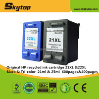 Best selling hot product Original inkjet cartridge for hp 21 and for hp 22 recycled ink cartridge C9351AA&C9352AA