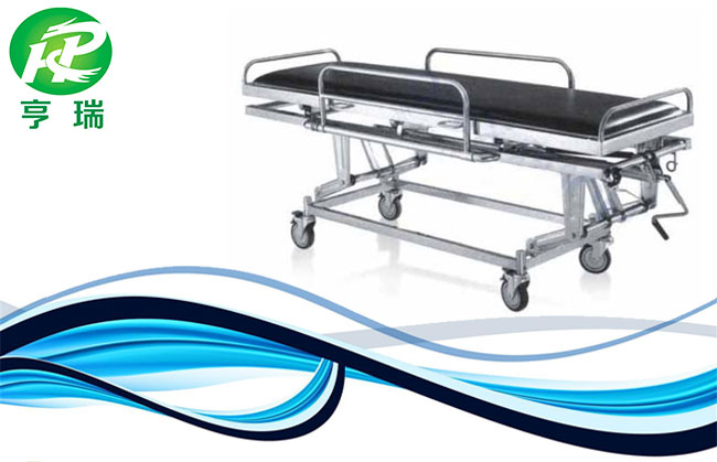 Stainless steel hospital medical patient stretcher