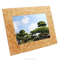 Boshiho newest custom wood picture frame natural cork photo frame