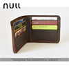 2016 Latest design crazy horse style mens genuine leather wallet