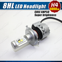 8HL CREE XHP50 H4 HB2 9003 6000 lumen car led Headlamp Conversion Kit