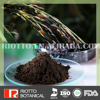 High quality black rice extract anthocyanidin