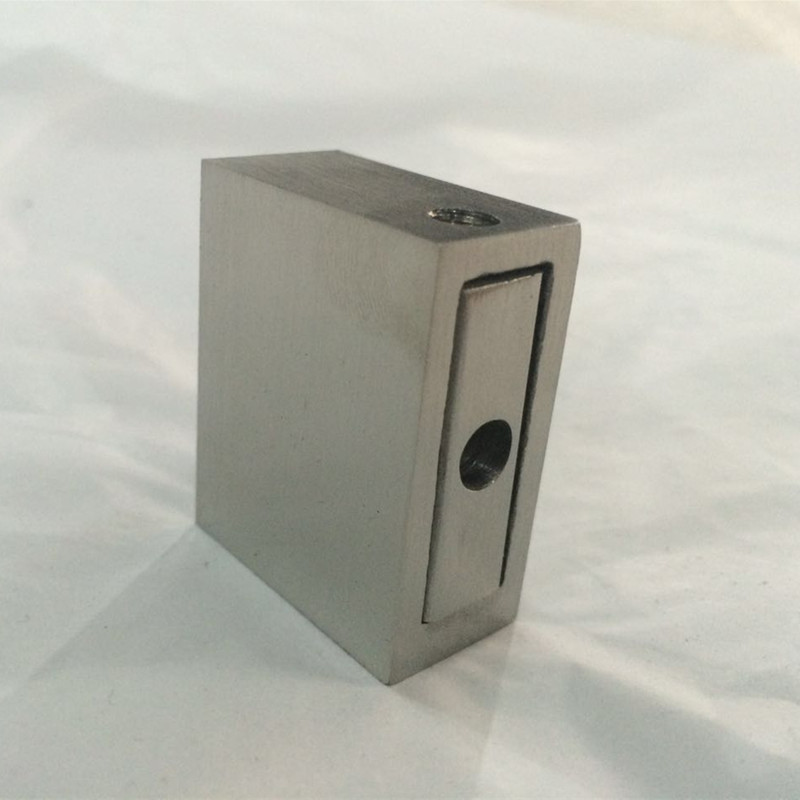 stainless steel shower tube glass to wall connector square