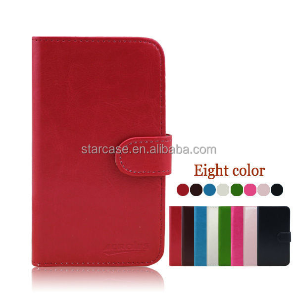 Factory Price ! Small MOQ Wholesale Stand Wallet Leather Flip Mobile Phone Case for Lenovo S820
