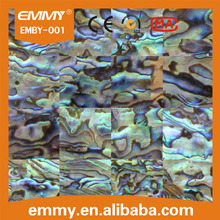 Natural rectangle abalone mother of pearl seashell mosaic tile in brick pattern