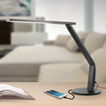 Highest TaoTronics Dimmable Touch Eye-Care LED Desk Lamp with USB Charge Port 15W, Black Adjustable Arm Head