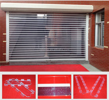 Good automatic Transparent polycarbonate/crystal roller shutter door for shop
