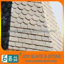 hexagonal and round of roofing shingle