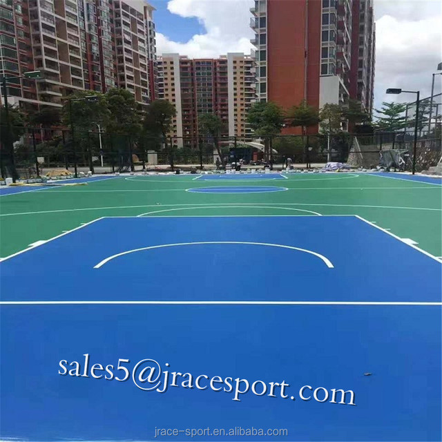 polyurethane Plastic basketball Court Flooring/tennis court surface outdoor