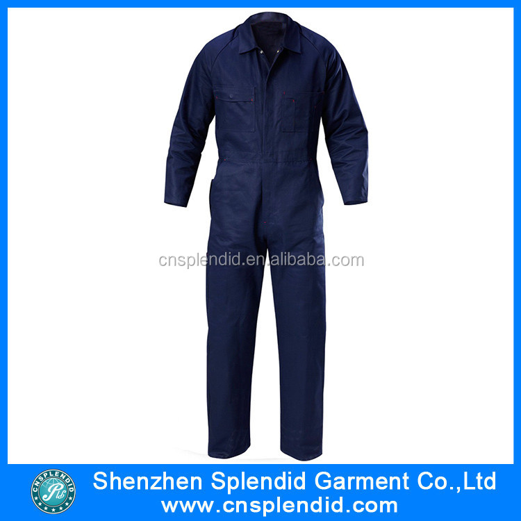 Custom made unisex cotton high quality oil resistant coverall