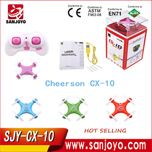 Hot Cheerson CX10 CX-10 micro sized rc drone tiny helicopter 4 ch 6 axis gyro nano drone with 3D stunt function