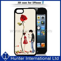 Woman Love Rose 3D Hard Cover For iPhone5