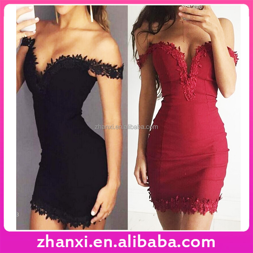 Lace sexy tight bodycon tube short red designer one piece black party dress korean