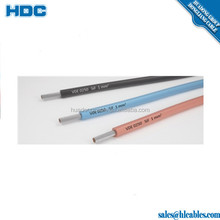 VDE 0250 SiF Fine wired cable single 1mm2 200Degree silicone rubber insulation class 5 tinned copper conductor factory price