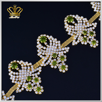 new product handmade metal welding crystal stone cup chain rhinestone lace chain trims for cloth